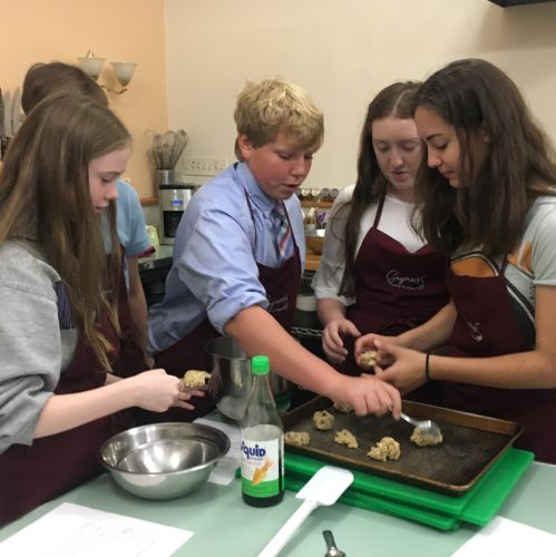 Upper School Health Students Become Chefs